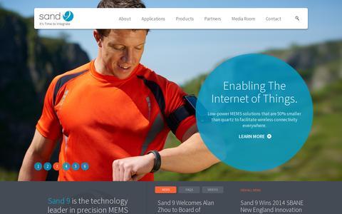 Screenshot of Home Page sand9.com - Home Page - Sand 9 - captured July 11, 2014