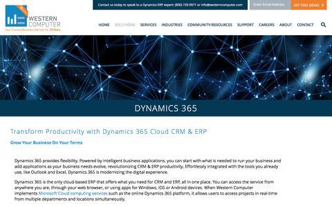 Dynamics 365 | Western Computer | www.westerncomputer.com