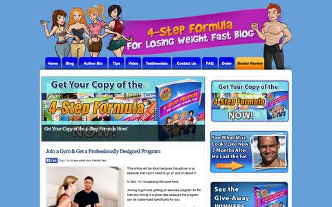 Screenshot of Blog 4stepformula.com - Lose more weight is less time, with less effort by doing it smart - captured Nov. 2, 2014