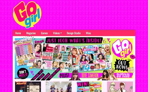 Screenshot of Home Page gogirlmag.co.uk - Go Girl | Magazine - captured Dec. 2, 2017