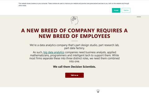 Screenshot of Team Page mu-sigma.com - Our decision scientists | A new breed in data analytics companies - captured July 6, 2019