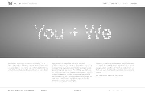 Screenshot of About Page wildorb.com - About - Wildorb Interactive Design Studio - captured Oct. 7, 2014