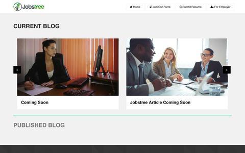Screenshot of Blog jobs-tree.com - Interview Tips Career Guidance - captured Nov. 27, 2016