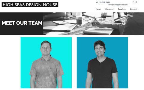 Screenshot of Team Page hsdesignhouse.com - Our Team   High Seas Design House - captured Jan. 28, 2017