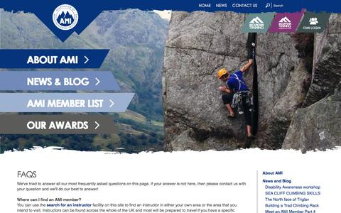 Screenshot of FAQ Page mountain-training.org - FAQs - captured Dec. 28, 2016