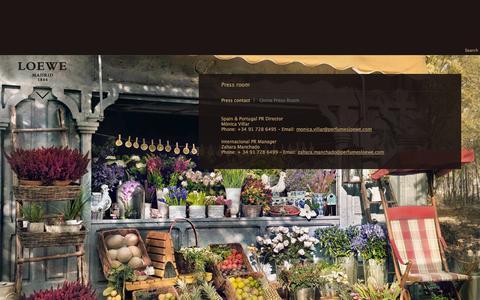 Screenshot of Press Page perfumesloewe.com - Press room | Loewe Perfumes – Official Website of Loewe Perfumes - captured Oct. 2, 2014