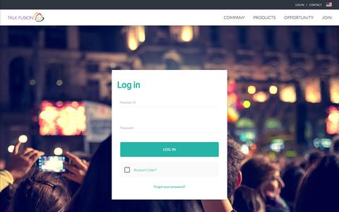 Screenshot of Login Page talkfusion.com - All-in-one Video Marketing Solution | Talk Fusion | Try it Free for 30 Days - captured Aug. 20, 2016