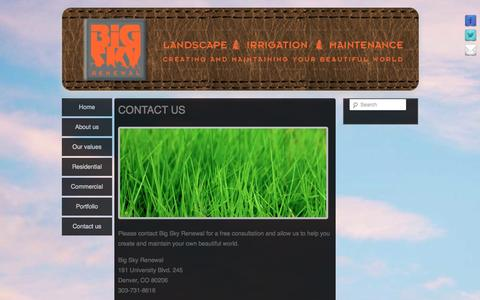 Screenshot of Contact Page bigskyrenewal.com - Big Sky Renewal » Contact us - captured Oct. 5, 2014