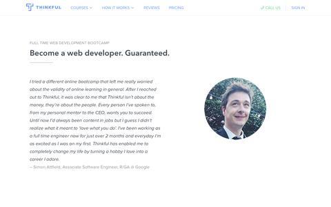 Full Time Web Development Bootcamp · Thinkful