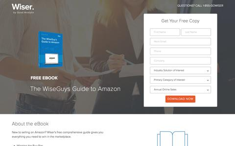 Screenshot of Landing Page wiser.com - Wiser eBook - The WiseGuy's Guide to Amazon, Part I - captured April 26, 2017