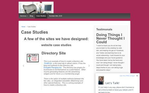 Screenshot of Case Studies Page virtualfreedom.biz - Case Studies – Virtual Freedom - captured Oct. 20, 2018