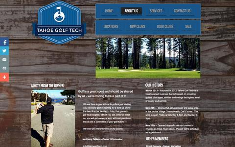Screenshot of About Page tahoegolftech.com - About Us - captured Oct. 7, 2014