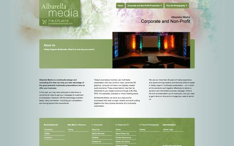Screenshot of About Page albarellamedia.com - Albarella Media :: About Us - captured Sept. 30, 2014