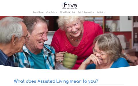 Screenshot of Home Page villageatprincecreek.com - Thrive at Prince Creek Assisted Living and Memory Care - captured Jan. 10, 2016