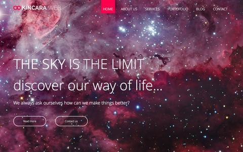 Screenshot of Home Page kincara.com - KINCARA WEB | Webdesign Timisoara - captured Feb. 3, 2016