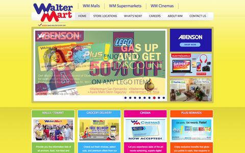 Screenshot of Home Page waltermart.com.ph - Walter Mart - captured Oct. 19, 2017