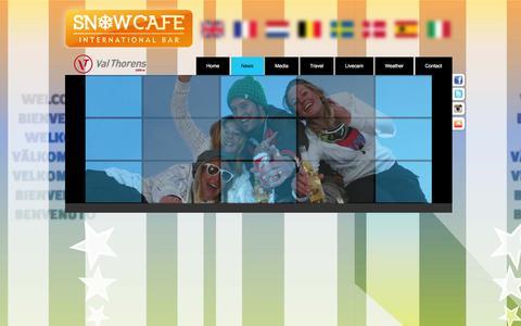Screenshot of Press Page snow-cafe.com - News | Snowcafe | Val Thorens - captured Jan. 12, 2016