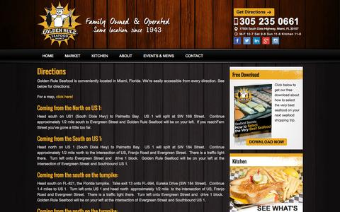 Screenshot of Maps & Directions Page goldenruleseafood.com - Directions - Golden Rule Seafood - captured Sept. 30, 2014