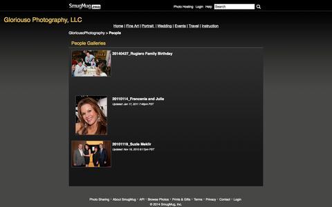 Screenshot of Team Page smugmug.com - GloriousoPhotography : People - captured Sept. 19, 2014