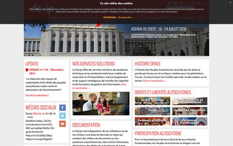 Screenshot of Home Page docip.org - Accueil - DOCIP - captured Aug. 2, 2016