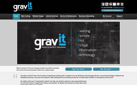 Screenshot of Home Page gravit.com.au - GravIT Pty Ltd - Home - captured Oct. 3, 2014