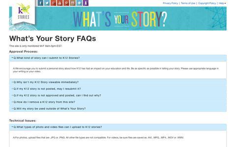Screenshot of FAQ Page k12.com - Faq | What's Your K12 Story? - captured Aug. 7, 2017