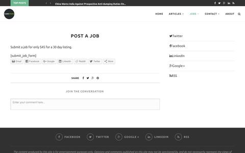 Post a Job – CleanTechies