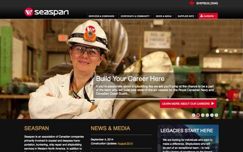 Screenshot of Home Page seaspan.com - Home - Seaspan - captured Sept. 25, 2014