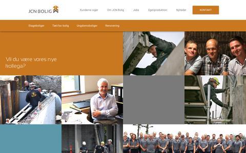 Screenshot of Jobs Page jcn-bolig.dk - Jobs - captured Oct. 1, 2018