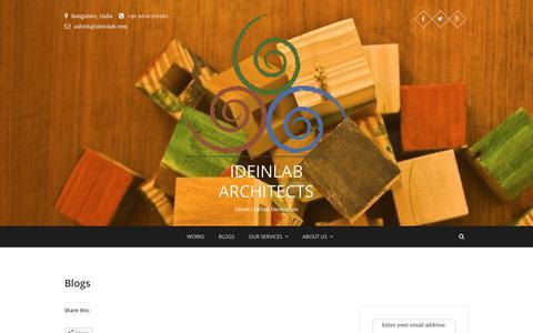 Screenshot of Home Page ideinlabarchitects.com - Works - IDEINLAB ARCHITECTS - captured June 7, 2017