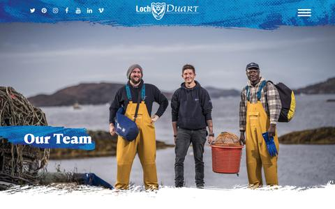 Screenshot of Team Page lochduart.com - Extraordinary Salmon Farmed By Extraordinary People - captured Feb. 15, 2018