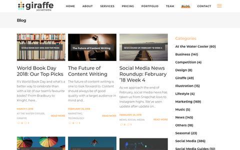 Blog - Giraffe Social Media