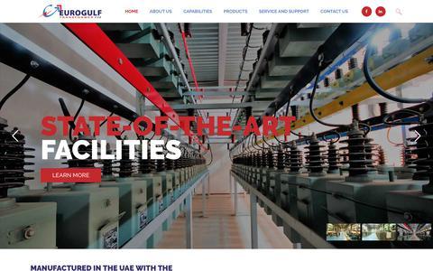 Screenshot of Home Page eurogulftransformers.com - Power Transformers Manufacturers Distribution Transformers Agents Dubai UAE - captured Sept. 29, 2018
