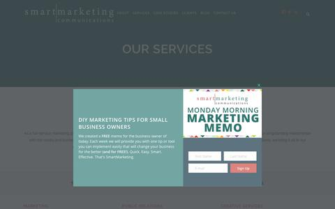 Screenshot of Services Page smartmarketingcommunications.com - Take a look at our full range of services | SmartMarketing Communications - captured June 14, 2017