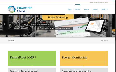 Screenshot of Products Page powertronglobal.com - Products | Powertron Global - captured Dec. 8, 2018