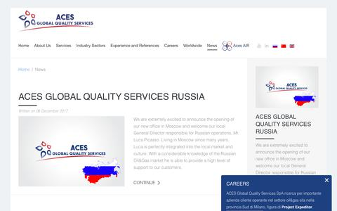 Screenshot of Press Page aces-gqs.com - News - ACES GQS - captured Oct. 2, 2018