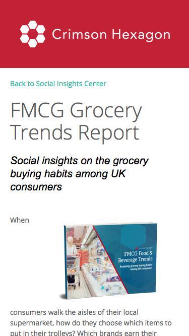FMCG Industry Trends | FMCG Food & Bev Trends Report