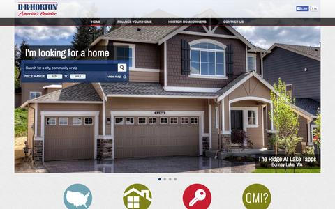 Screenshot of Home Page drhorton.com - America's Largest Home Builder | D.R. Horton - captured Sept. 19, 2014