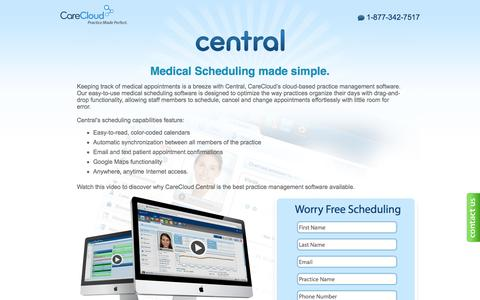Screenshot of Landing Page carecloud.com - Cloud Based EHR Software   The Cloud has you covered - captured May 24, 2016
