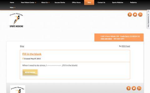 Screenshot of Blog b2hchiro.com - Front Range Sports Medicine - Chiropractor in Castle Rock, CO, US - captured Oct. 5, 2018