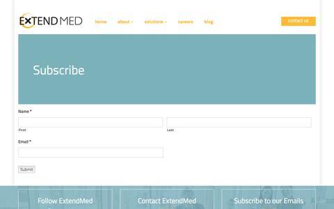 Screenshot of Signup Page extendmed.com - Subscribe   ExtendMed, Inc. - captured July 18, 2016