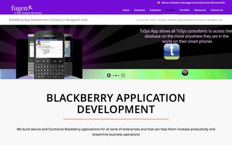 BlackBerry Application Development Company in Bangalore, India, BlackBerry Apps Developers