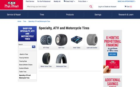 Specialty, ATV and Motorcycle Tires | Pep Boys