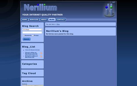 Screenshot of Blog nerillium.com - Nerillium > Blog - Nerillium's Blog - captured Sept. 30, 2014
