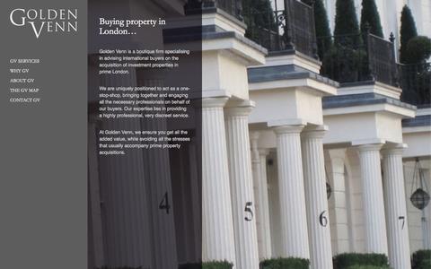 Screenshot of Home Page golden-venn.com - Golden Venn    Golden Venn advises international buyers on investment property acquisition in London - captured July 24, 2015