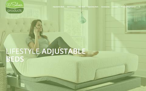 Screenshot of Products Page wsilverproducts.com - W. Silver Products |   Adjustable Beds - captured Feb. 2, 2018
