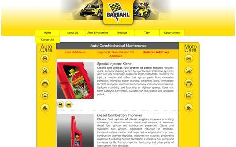 Screenshot of Products Page hoecbardahl.com - HOEC Bardahl Product Range - captured Oct. 1, 2014