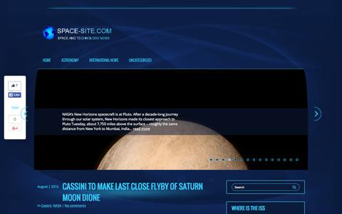 Screenshot of Home Page space-site.com - International Space and Technology News - captured Sept. 12, 2015
