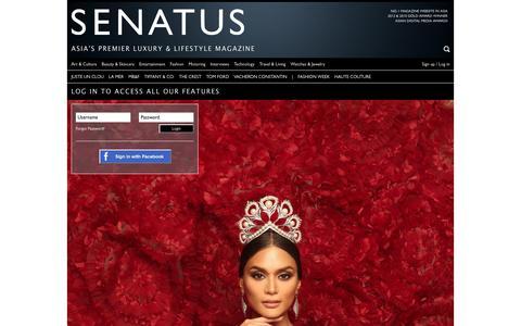 Screenshot of Login Page senatus.net - Login | SENATUS - captured May 25, 2017