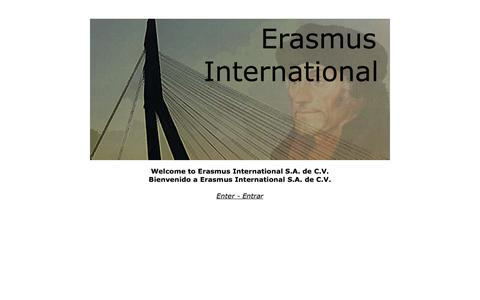 Screenshot of Home Page erasmusinternational.com - Erasmus International offers a professional service to the Pharmaceutical Industry around the world/Erasmus Internacional ofrecemos servicios profesionales a la industria farmacéutica mundialmente - captured Oct. 2, 2014